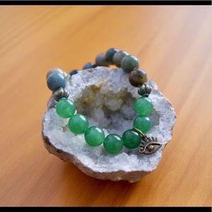 Jewelry - Aventurine Evil Eye Mala Bracelet